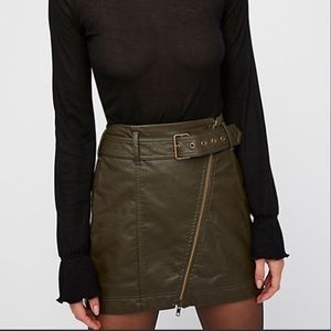 Free People Feelin' Fresh Faux Leather Mini Skirt